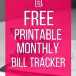 Free Printable Bill Tracker: Manage Your Monthly Expenses