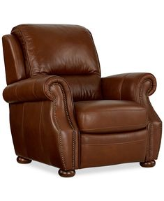 Royce Leather Recliner Chair - Chairs & Recliners - Furniture - Macy's