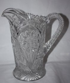 Imperial Glass Pitcher 474 Early American Pressed Glass, circa 1915 - 1920 by LovesVintageFinds on Etsy