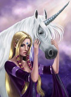 f High Elf Druid w Unicorn community sylvan forest hills images about Fairies, dragons Unicorn And Fairies, Unicorn Fantasy, Unicorns And Mermaids, Unicorn Horse, Unicorn Art, Magical Unicorn, Fantasy Art, White Unicorn, Magical Creatures
