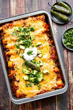 An easy recipe for turkey or chicken enchiladas with roasted jalapenos. Makes a great use of leftover Thanksgiving turkey! #HolidayTable @grainfoods
