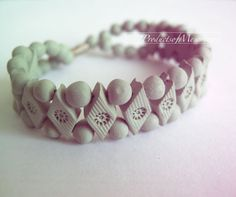 gift party fashion mint green baked clay beaded by productsofme