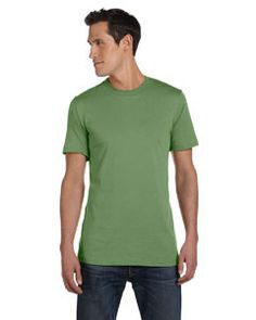 Bella + Canvas Unisex Jersey Short-Sleeve T-Shirt 3001C HEATHER GREEN