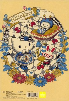 Alice in Wonderland Hello Kitty notebook fairy tale exercise book - Memo Pads - Stationery - kawaii shop modeS4u