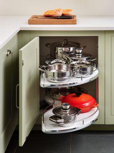 Harvey Jones 'Le Mans' corner cupboard storage