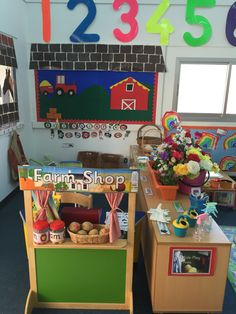 Farm shop role play area