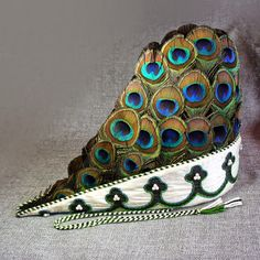 Peacock Feather Bycock Hat