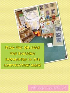 QR codes for building inspiration in the construction area! EYFS