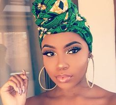 Head wraps though made popular for its use by the African natives, is now used across the continents. Beauty Make-up, Beauty Hacks, Hair Beauty, Black Beauty, Flawless Makeup, Eye Makeup, Hair Makeup, Flawless Face, Prom Makeup