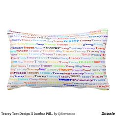Tracey Text Design II Lumbar Pillow