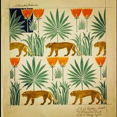 #wallpaperwednesday #repeat #pattern #lions 1918 V&A