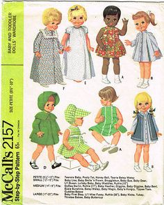 1960s Vintage McCalls Sewing Pattern 2157 Petite 8 to 10 In Baby Doll Clothes