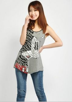 EAST KNITTING FH-058 2013 Women summer t shirt Ladys Fashion Clothes Mickey Mouse SHIRT Cotton Stripe Tops Free Shipping