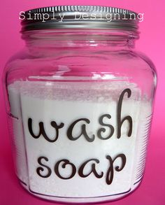 Homemade Laundry Detergent without the boiling and such