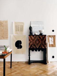 my scandinavian home: The creative home of a Swedish artist Estilo Interior, Home Interior, Interior Design, Elle Decor, Scandinavian Style, Minimal Apartment, Chevron Floor, Creative Home, First Home