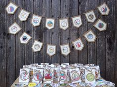Children's book theme party package/burlap birthday decor by VOCrafted on Etsy https://www.etsy.com/listing/466323843/childrens-book-theme-party-packageburlap