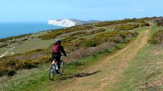 Cycling on the Tennyson Trail on the Isle of Wight © National Trust / Sue Oldham