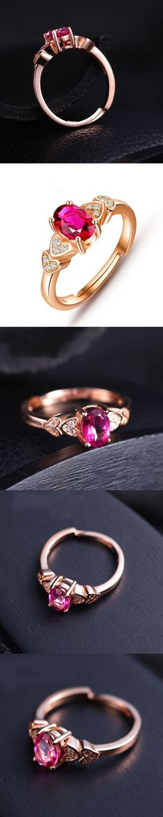 925 sterling silver Fine Jewelry Pink topaz Rings fashion gift for women Open ring jewelry for wedding j050701agfb wholesale #fashiongiftsforwomen #finerings