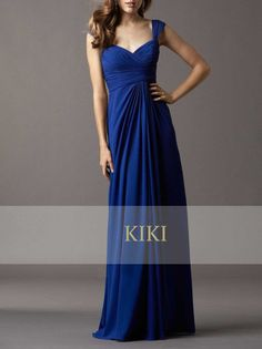 I like this for my bridesmaids...Blue long prom/party/evening/bridesmaid/dress by KikiStory on Etsy, $90.00