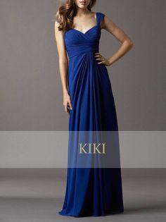 Cobalt blue long prom/party/evening/bridesmaid/cocktail dress  chiffon full length