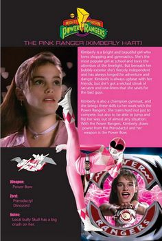 The Pink Ranger (Kimberly Hart)