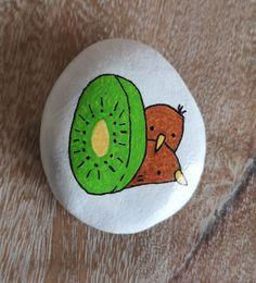 Kiwis [Created: February 14, 2021]   Inspired by hmkoyama03 on redbubble.com, this is 1 of 3 Kiwi rocks created for Bird Of The Year 2021 February 14, Rock Painting, Kiwi, Painted Rocks, Inspired, Create, Inspiration, Collection, Biblical Inspiration