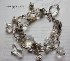 new years eve bracelet ab treated  vintage chain bracelet