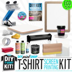 The Do-It-Yourself, DIY Print Shop® Original T-Shirt Kit comes equipped with all of the essential tools needed to make high-quality screen prints! Plus, all of the inks and cleaning supplies included are non-Toxic & eco-Friendly; a great gift for the entire family! Learn more at: http://diyprintshop.com/