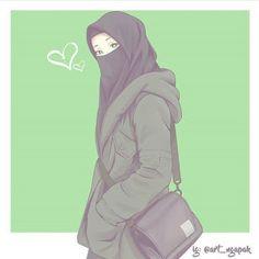 kumpulan anime muslimah bercadar keren - my ely Anime Art Girl, Anime Girls, Muslim Images, Hijab Drawing, Islamic Cartoon, Hijab Cartoon, Cute Couple Art, Islamic Girl, Anime Version