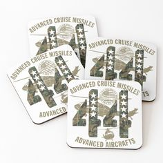'Advanced Aircrafts' Coasters by Cruise Missile, Cold Drinks, Coasters, Aircraft, My Arts, Vibrant, Art Prints, Printed, Awesome