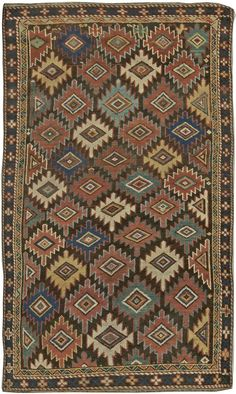 A Late 19th Century Caucasian Shriven antique rug