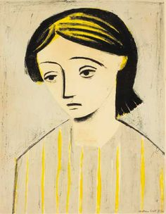 William Scott – Portrait of a Girl, 1948