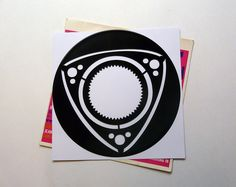 Rotary Vinyl Record Art Wall Hanging Old Vinyl Records - New Unique Art - NZ Made