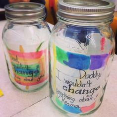 Coin jars for Father's Day craft.. Or cut a coin slit on lid