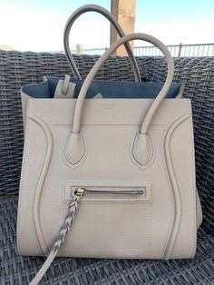 749079015882 Details about Auth CELINE Luggage Small Square Phantom Black Leather Handbag