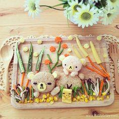 Rilakkuma (idee-per-far-mangiare-verdure-ai-bambini) by Samantha Lee