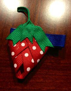 Strawberry hair clip