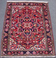 Price Reduced Ornate Heriz Rug by ShayanPersianRugs on Etsy, $455.00