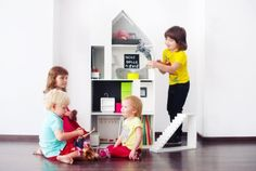 The stylish Boomini White can be used as a play platform or bookcase | Inhabitots