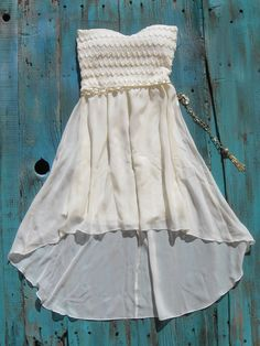 Cowgirl Western Dress with belt perfect high low dress to wear with your cowboy boots can be purchased at www.elusivecowgirl.com $35.00