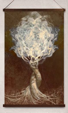 """Love Incense"" by artist Greg Spelanka. Check out his other work on the link below."