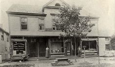 Photo (prior to 1899) from the Sayville Library collection. The left portion of this building still exists as Kay Cameron Jewelers. We've been there since 1982. Check out the platform for the horse drawn carriage to pull up and let off passengers.