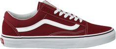 Rode Vans Sneakers OLD SKOOL HEREN