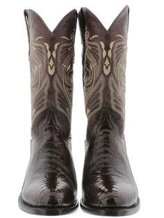 Men's genuine exotic ostrich leg skin round cowboy boots western rodeo biker