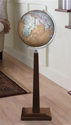 The Discovery Bradford Globe Is An Elegant Floor Featuring A 12 Inch  Antique Brown