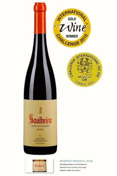 Estas são as mais recentes distinções do Alvarinho #Soalheiro Reserva 2013, medalha de ouro no Challenge International du Vin 2015 em França e no International Wine Challenge 2015 no Reino Unido.   The most recent awards of Alvarinho/Albariño Soalheiro Reserva 2013: gold medal at the Challenge International du Vin 2015 in France and the gold medal at the International Wine Challenge 2015 in the United Kingdom.