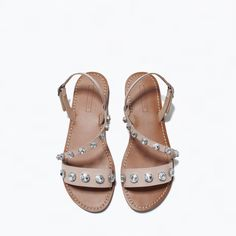 JEWELLED LEATHER SANDALS-Shoes-TRF-SHOES & BAGS | ZARA United States