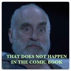 """The """"Dale stink eye"""". That does NOT happen in the comic book. #Thewalkingdead"""