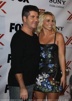 Britney & Simon on the Sony X Red Carpet