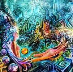 Melding realities Acid Art, Psy Art, Neon Rainbow, Visionary Art, Psychedelic Art, New Age, Trippy, Alter, Surrealism